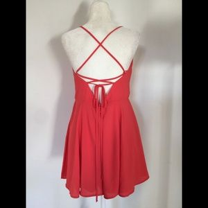 9e8331718112 Express Pants - NWOT Express Strappy Tie-Back Cami Romper Size 12